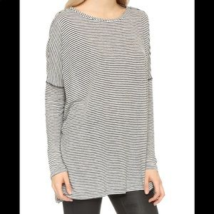 Alice + Olivia Gray Oversized Bradwin Top Shirt
